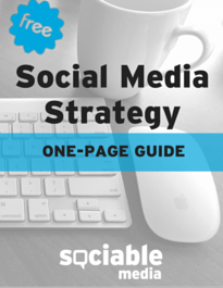 Social MediaStrategy ONE-PAGE GUIDE UNBOUNCE